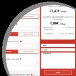 raamatupidamise hinnakalkulaator variant 2